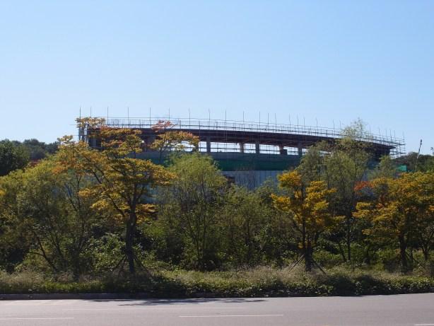 New baseball stadium, under construction (2013)