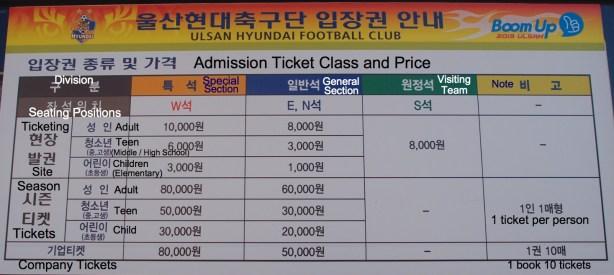 Tiger tickets
