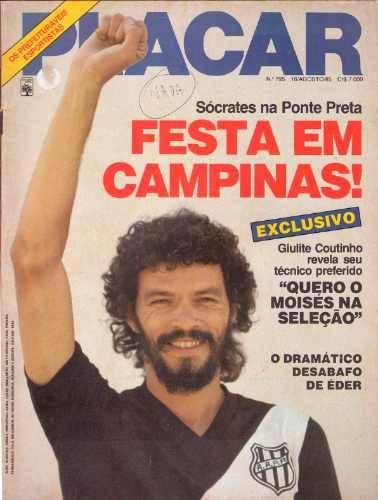 Sócrates chegou a dar entrevista como jogador da Ponte