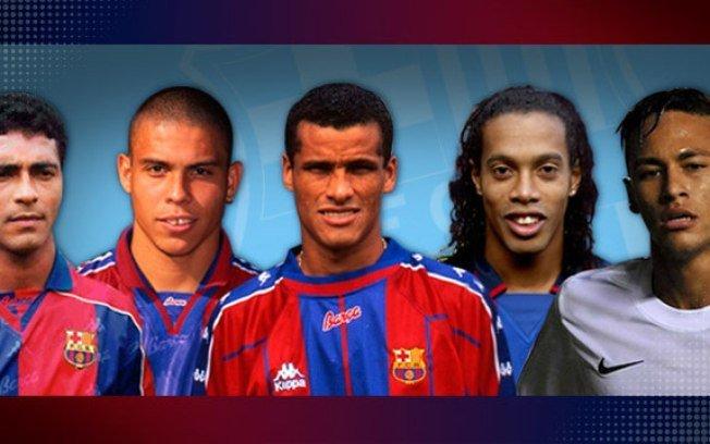 Até o site do Barcelona lembrou dos brasileiros que fizeram sucesso