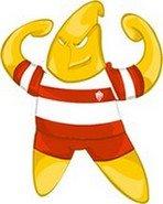 Rio Branco-AC - EstrelaA imagem do mascote é engraçada, mas a explicação dele é bem séria: a estrela representa a independência do Acre contra os bolivianos. Ela também está na bandeira do estado