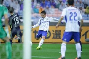 Gamba Osaka perdeu para o Sanfrecce Hiroshima durante a Super Copa Japonesa