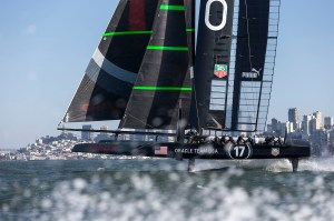 AC72 Sail 4 / Foiling / ORACLE TEAM USA / San Francisco (USA) / 01-10-12