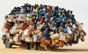 rifugiati camion