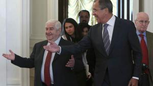 Ministri degli esteri russo e siriano Sergei Lavrov- Walid Moualem