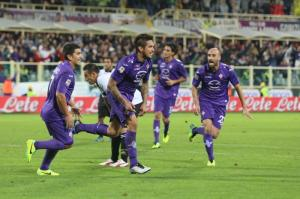 Vargas esulta il gol