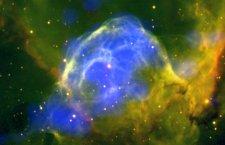 L'elmo del dio nordico Thor ripreso nell'Universo dall'Osservatorio spaziale Esa