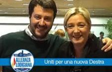 """Salvini vuole radere al suolo i campi rom. La Le Pen """"interdice"""" il padre"""