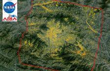 Mappa area terremoto- Nasa