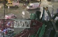 Enorme gru crolla sulla Grande Moschea della Mecca: 107 morti e 230 feriti