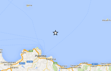 Terremoto sulla costa siciliana di fronte a Palermo