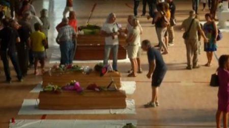 funerali ascoli piceno terremoto 1