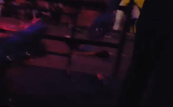 Vittima sul pavimento