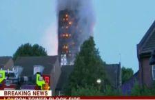 Londra: incendio in un grattacielo. Numerosi feriti. Si temono vittime
