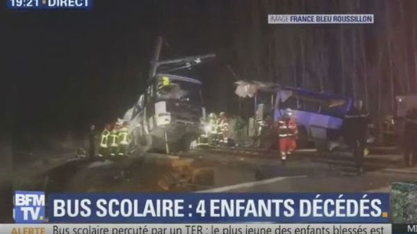 Francia: strage di ragazzi su scuola bus travolto da treno