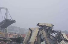Il ponte collassato al centro