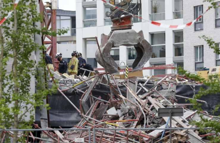 Cantiere crollato Anversa