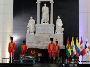 Delcy Rodríguez rindió honores a Simón Bolivar en el Panteón Nacional