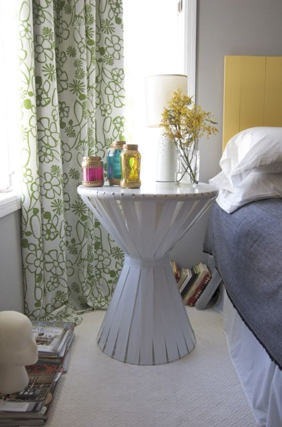 Creative DIY nightstand idea - NO.1# THE MOST BEAUTIFUL DIY BEDROOM NIGHTSTAND IDEAS
