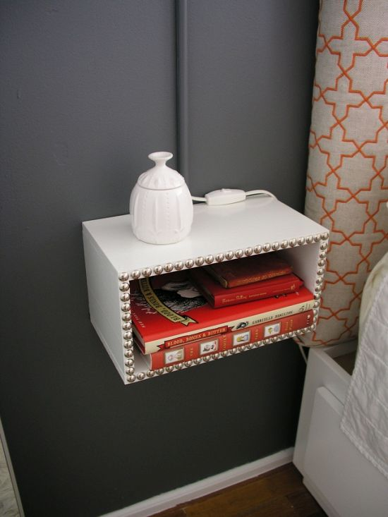 DIY floating nightstand for bedroom - NO.1# THE MOST BEAUTIFUL DIY BEDROOM NIGHTSTAND IDEAS