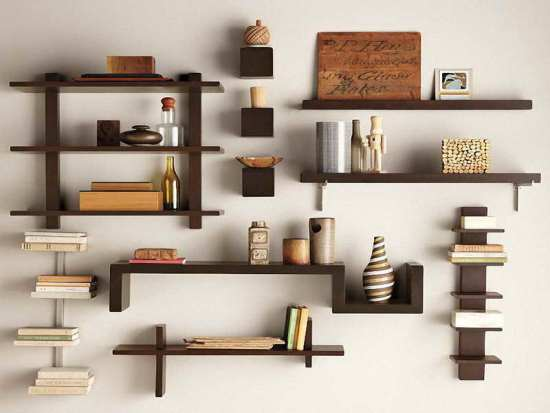 Image Of Easy Wall Shelves Decorating Ideas