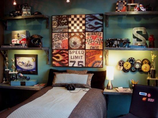 Sports Themed Wall Decoration Idea For Boys Bedroom Ideas