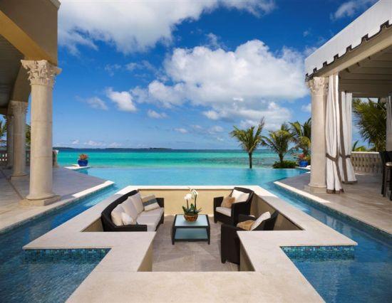 Extraordinary sunken living room design within a pool - NO.1# BEAUTIFUL SUNKEN LIVING ROOM DESIGN IDEAS