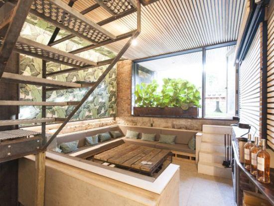 Tropical themed sunken living room design1 - NO.1# BEAUTIFUL SUNKEN LIVING ROOM DESIGN IDEAS
