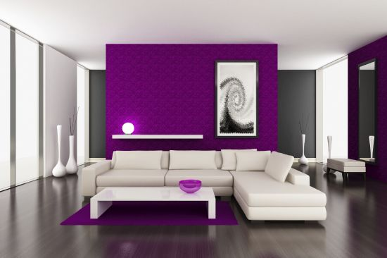 33 Stunning Accent Wall Ideas For Living Room Beautiful purple accent wall in living room
