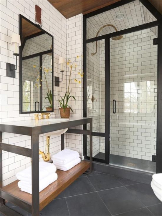 33 bathroom designs with brick wall