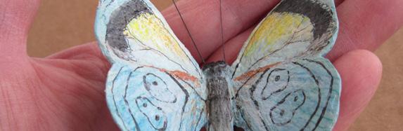 Paper Mache Clay Butterflies