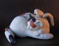 Calico Angel Cat Sculpture