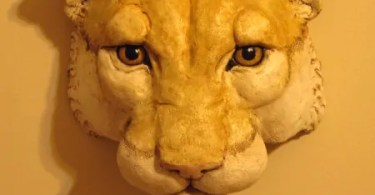 Cougar Head Sculpture