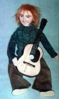 Paper Mache Guitarist Doll