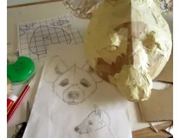 Hyena Mask, Half-way Done