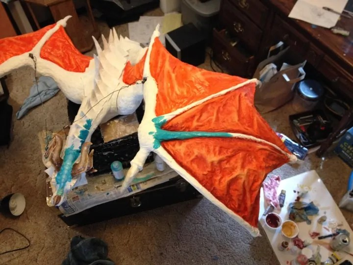 Beginning to paint the Dragon