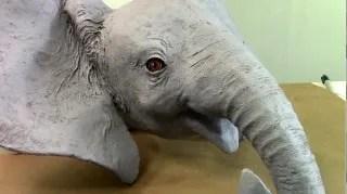 Baby African Elephant wall art