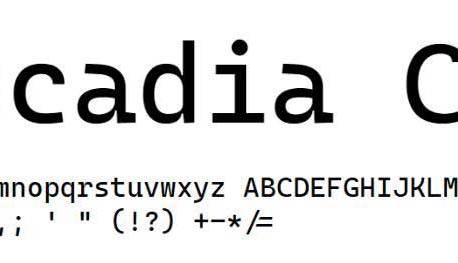 Cascadia Code, Microsoft publie une nouvelle police de caractères