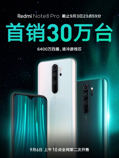 First sale of Redmi Note 8 Pro exceeds 300,000 units