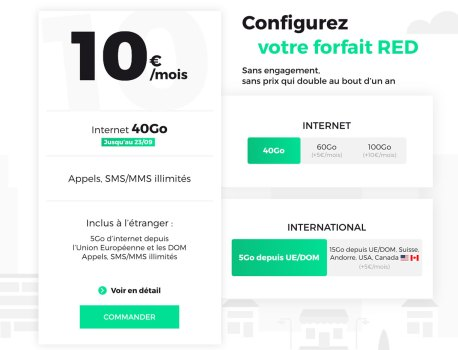 Forfait mobile : RED by SFR, B&YOU ou Free, quelle promo choisir ? 🔥
