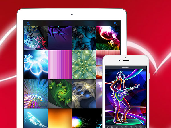 glow wallpapers pro iphone ipad 01 - Glow Wallpapers Pro iPhone iPad - Fonds d'Ecran Fluorescents (gratuit)