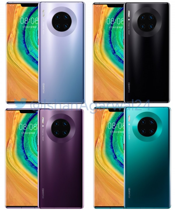 A long list of Huawei Mate 30 Pro features leaks plus some renders