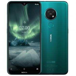 Nokia 7.2 in Cyan Green color