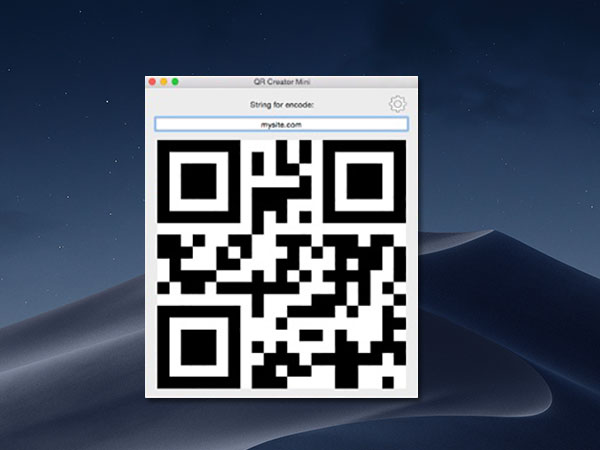qr creator mini macos mac 01 - QR Creator Mini Mac - Générer des Codes QR en un Clic (gratuit)
