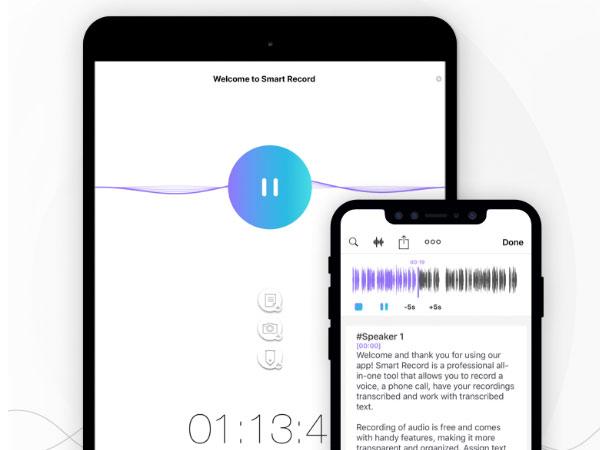 smart recorder iphone ipad apple watch gratuit 1 - Smart Recorder iPhone iPad - Enregistrement Audio et Transcription (gratuit)