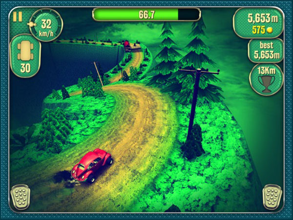 vertigo racing jeu iphone ipod touch ipad 02 - Vertigo Racing iPhone iPad - Course Automobile Retro en 3D (gratuit)