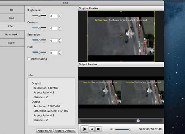 MP4 Converter Mac OSX 3 - Aiseesoft MP4 Converter Mac - Editeur et Convertisseur Video (gratuit)