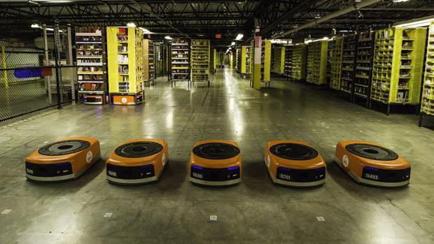 Amazon ouvre son premier site robotisé en France