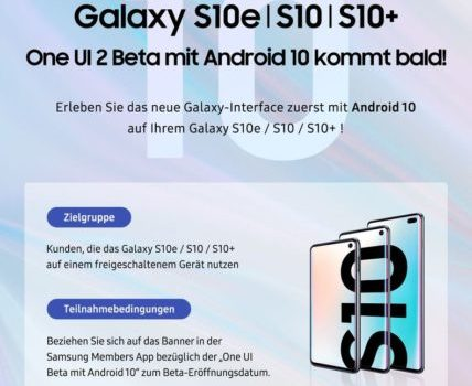 Galaxy S10 Android 10 beta teaser goes live in Germany and the US