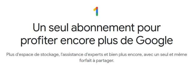 Google One : de l'espace disque en ligne, mais rien d'autre